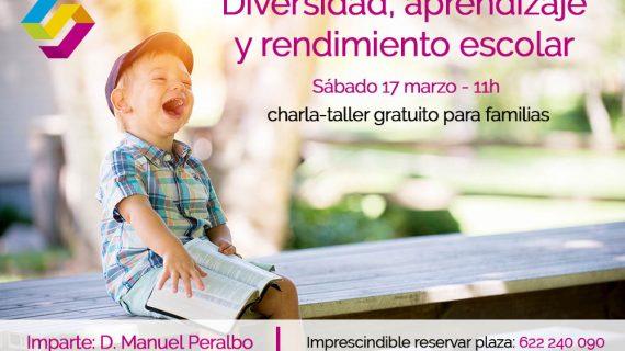 Charla-taller gratuito: diversidad, aprendizaje y rendimiento escolar